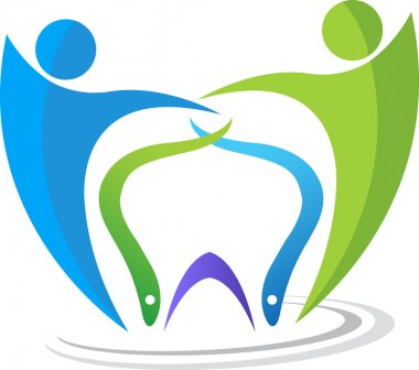 Dental couple logo