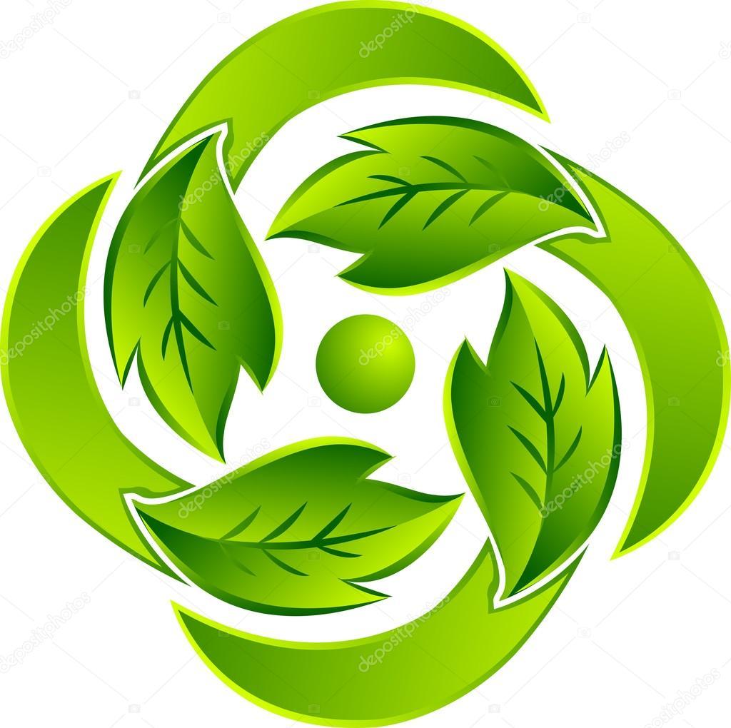 Leaf round logo