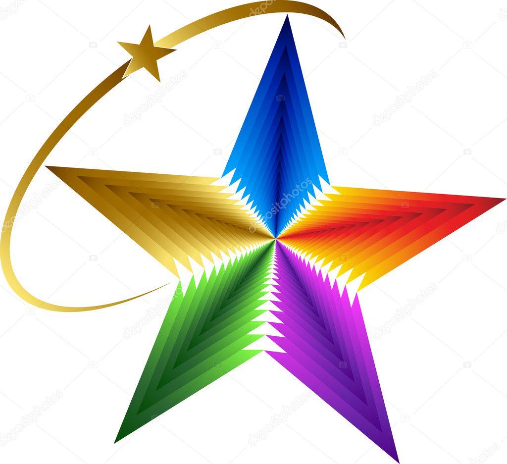 Star logo — Stock Vector © magagraphics #13072031