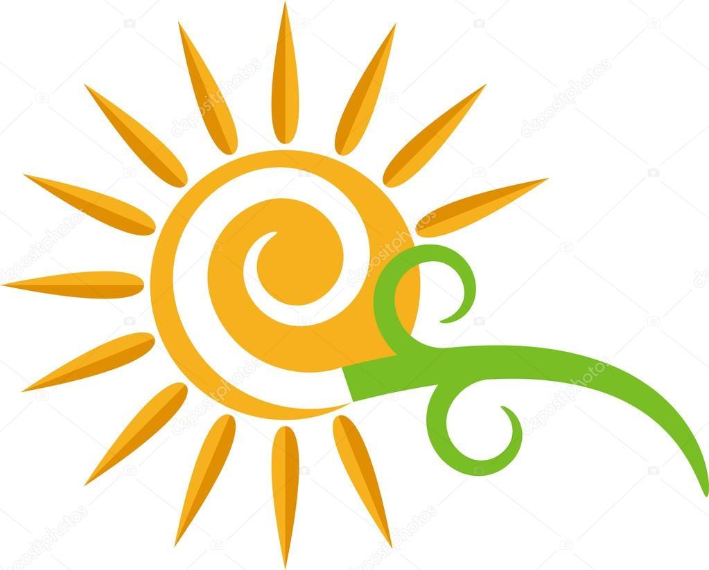Swirl sun logo