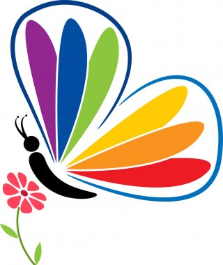 Butterfly and flower logo