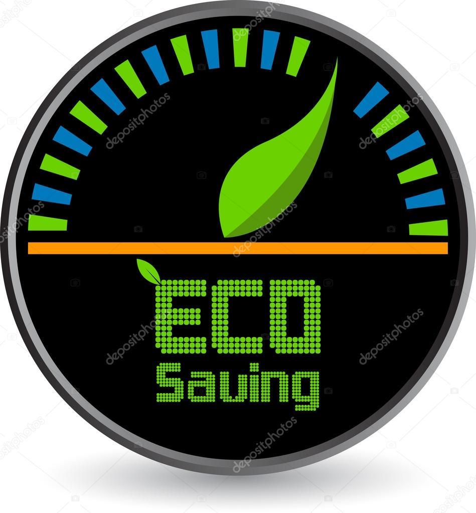 Eco saving logo
