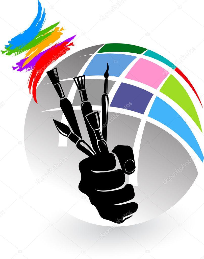 Artist brush hand
