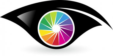Colorful eye logo