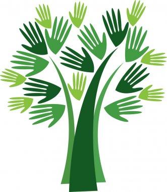 Hand tree logo