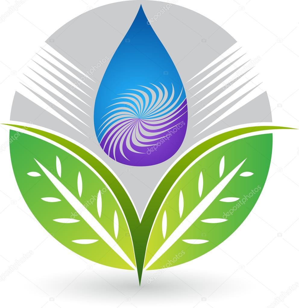 Purified drop with leaf logo