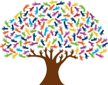 Hands tree logo