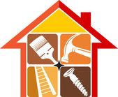 Fotografia riparazione casa logo