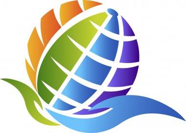 Hand globe logo