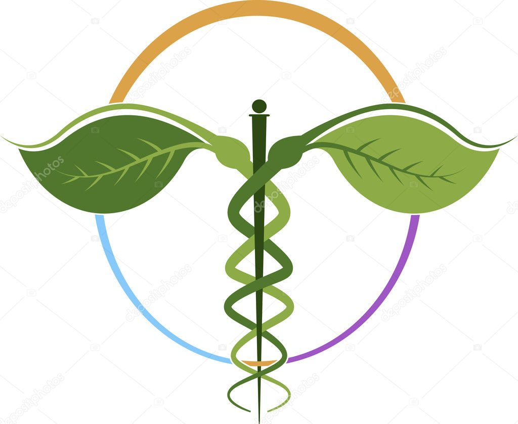 Herbal caduceus � Stock Vector