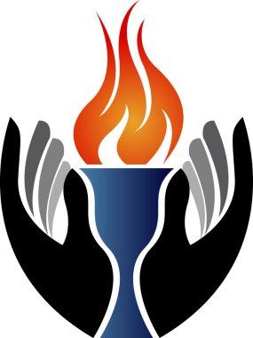 Hand flame logo