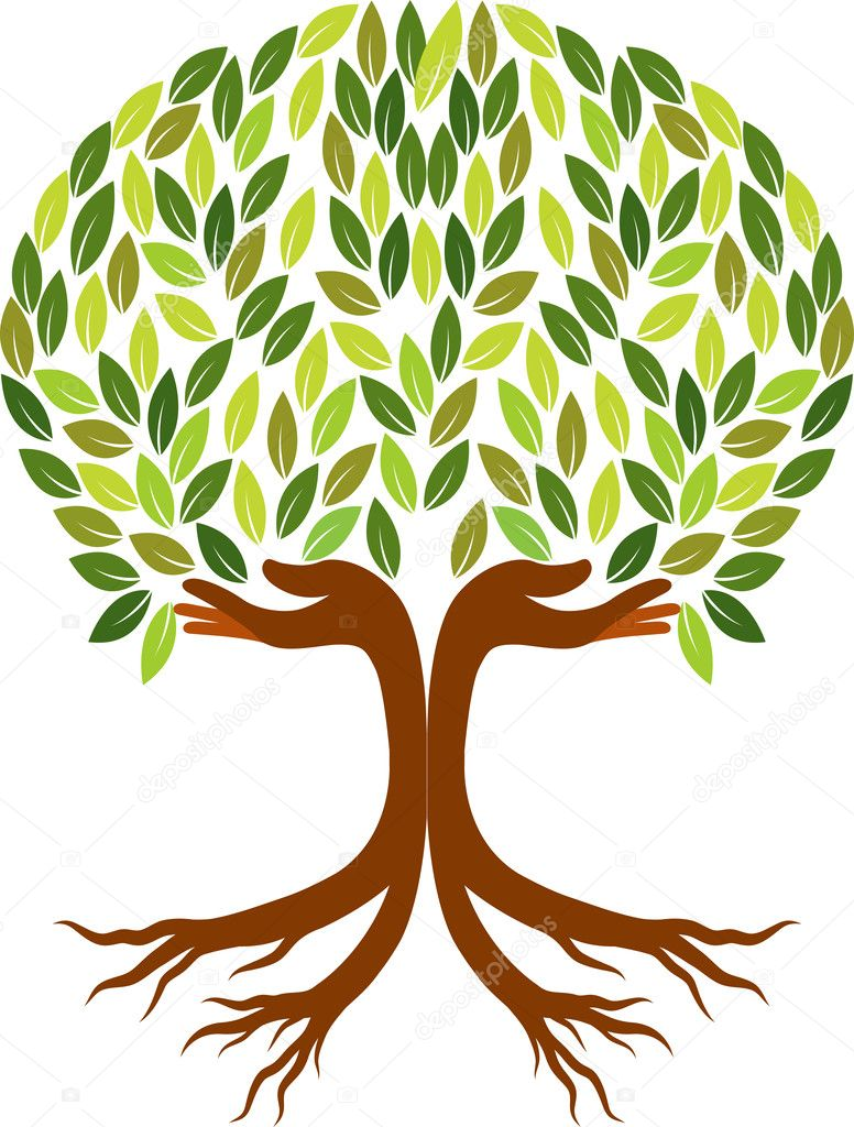 Hand Tree Logo Stock Vector 169 Magagraphics 51643805