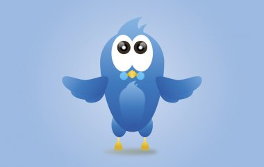 Twitter blue bird icon