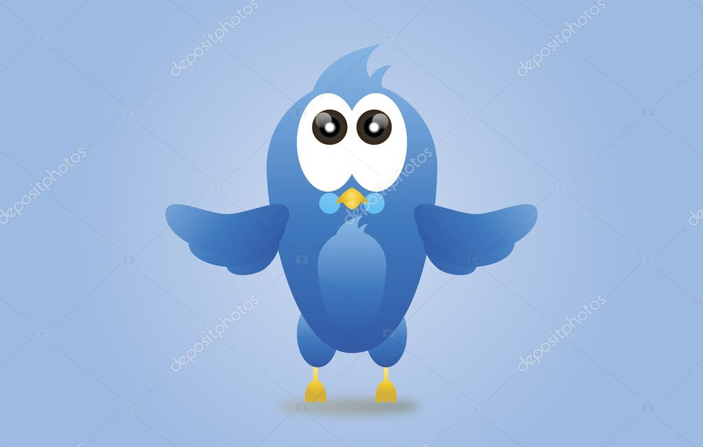 Twitter blue bird icon