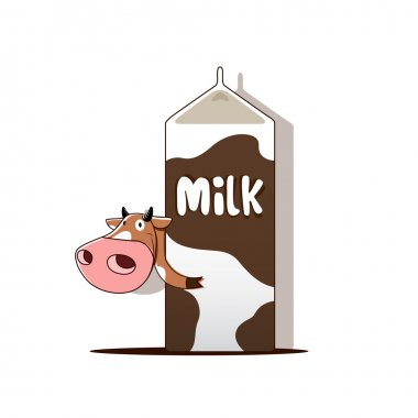Cow with milk
