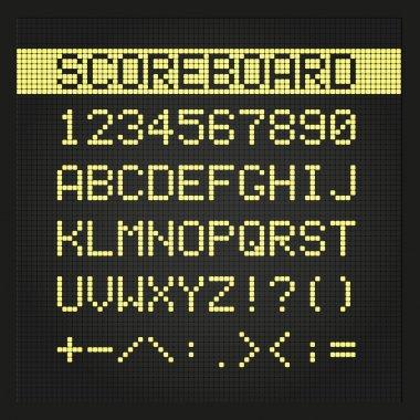 Scoreboard digital font