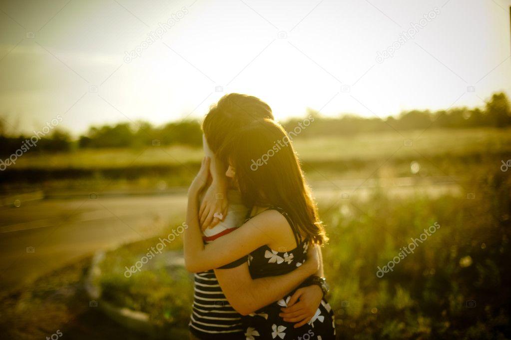 Hug of Happy couple
