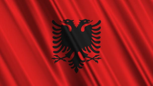 Albanian flag waving