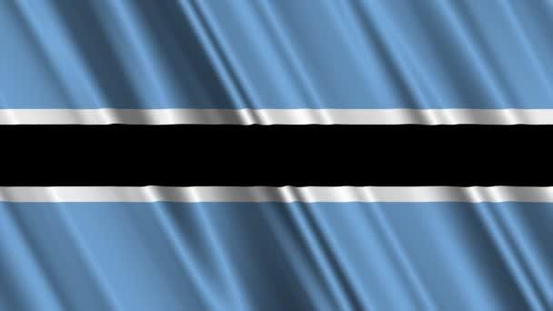Botswana flag waving