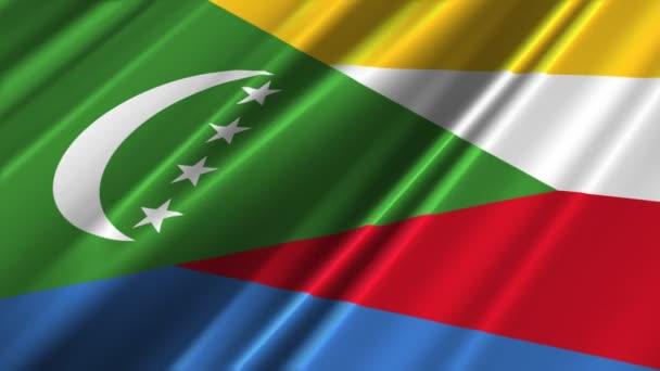Comoros flag waving