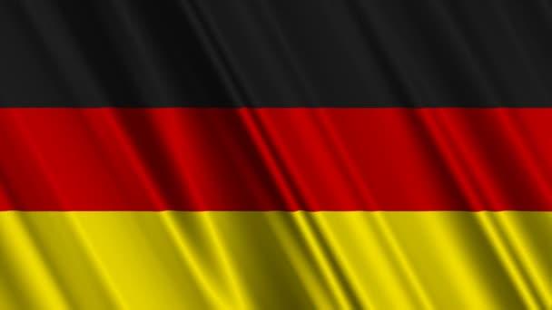 Deutschland-Fahne geschwenkt