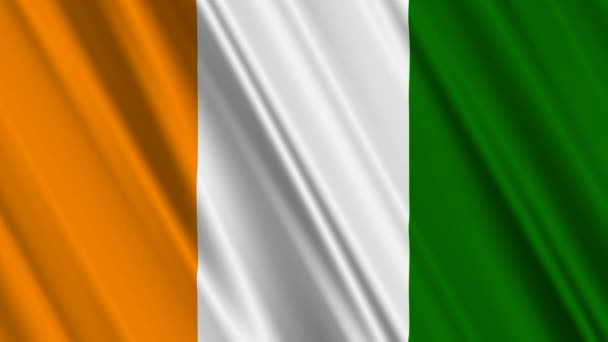 Ivory Coast Flag waving