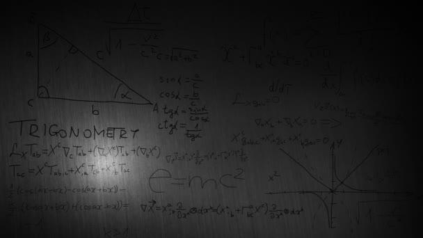 közeli matematikai képletek egy táblán
