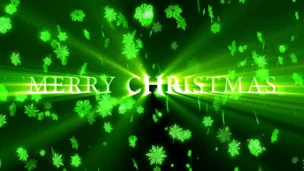 Veselé Vánoce a šťastný nový rok animace