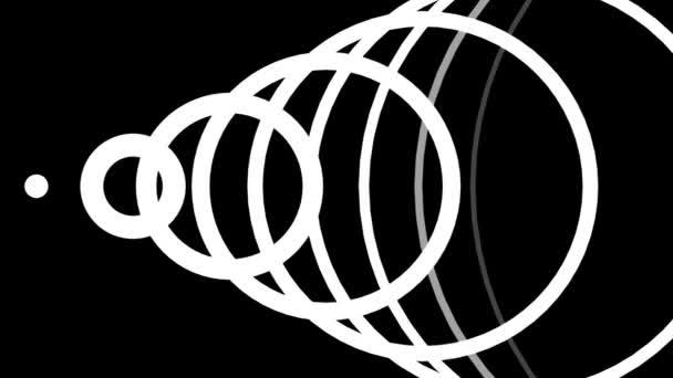 hypnotické rytmické hnutí černobílých geometrických tvarů