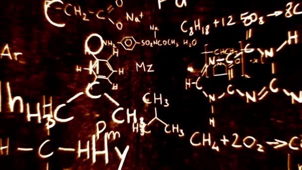 chemische Formeln und Symbole schwebend