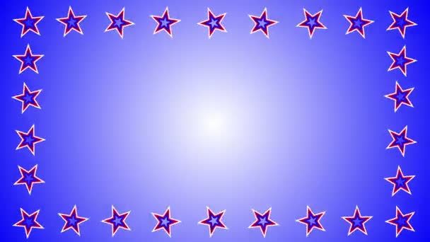 Rotating stars on colorful background.