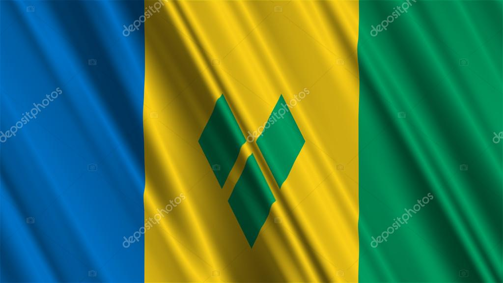 St Vincent And The Grenadines Flag — Stock Photo