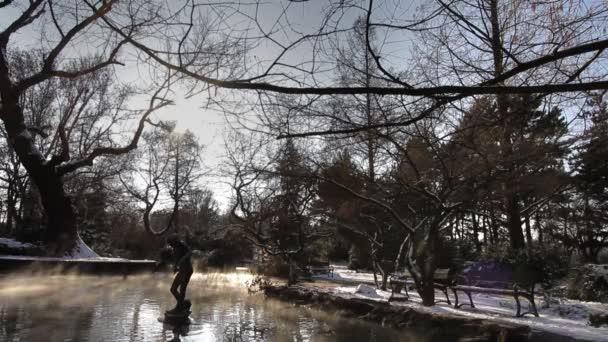 Památník v jezeře ve winter parku