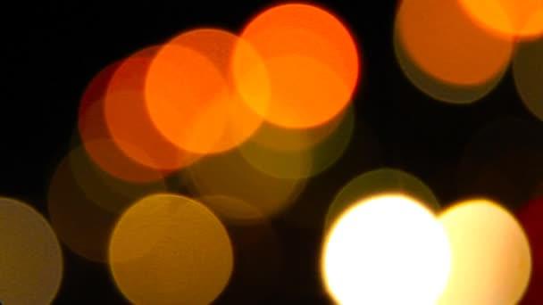 Light from car headlights at night