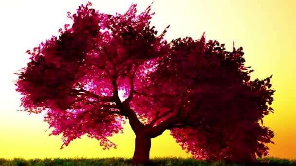 Magical cherry tree, 3D render