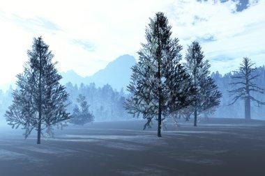 Winter Northern Forest 3D artwork