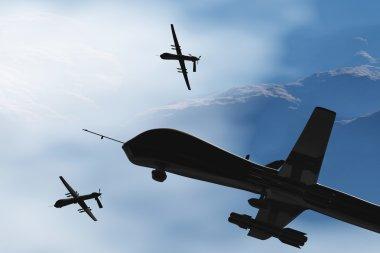 MQ1 Predator Type Drone 3D artwork