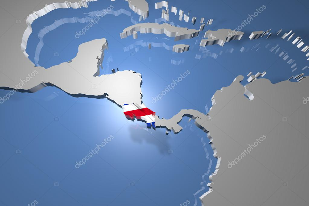 Costa rica country map on continent stock photo boscorelli costa rica country map on continent 3d illustration photo by boscorelli gumiabroncs Image collections