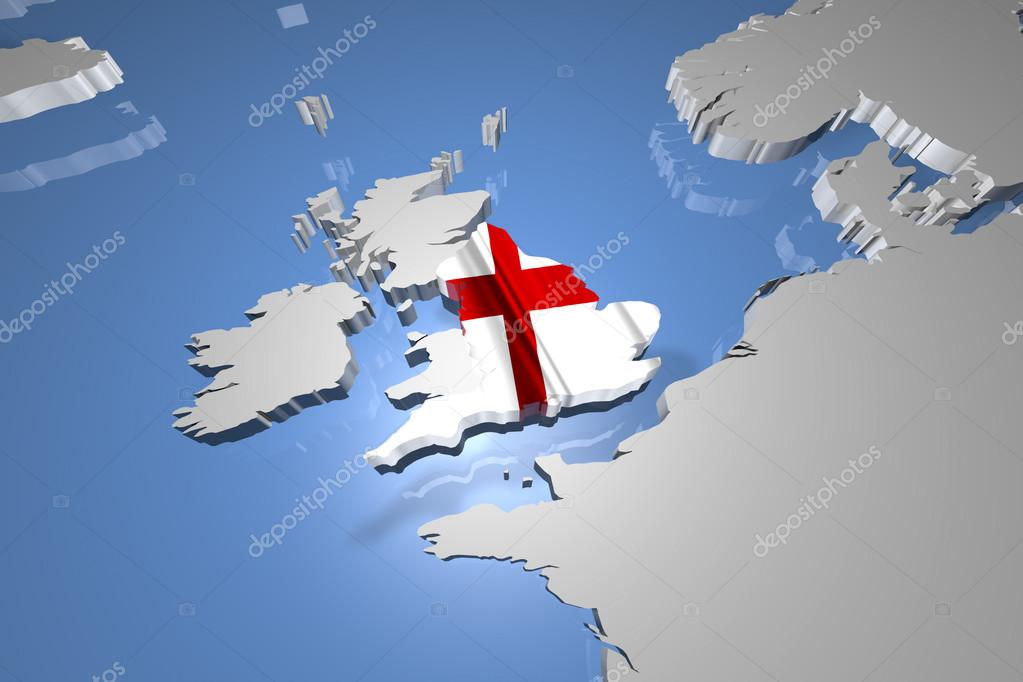 Country Map Of England.England Country Map On Continent Stock Photo C Boscorelli 50509787