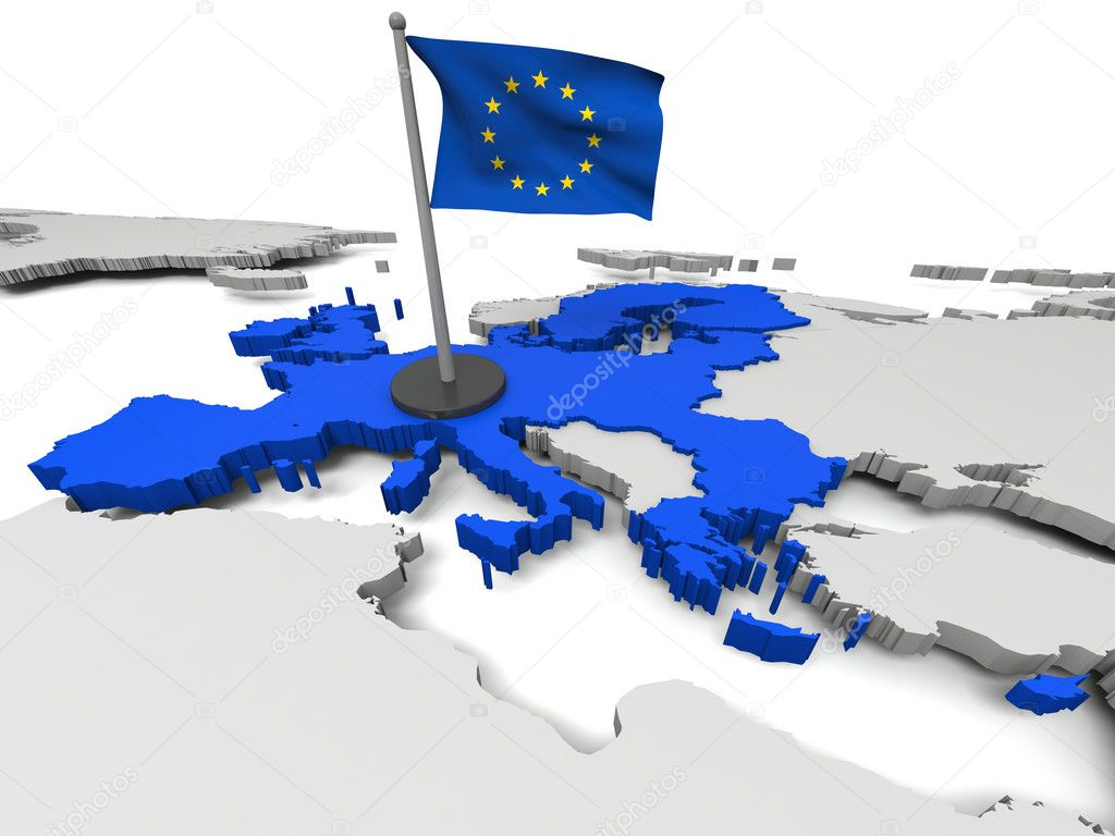European Union on map