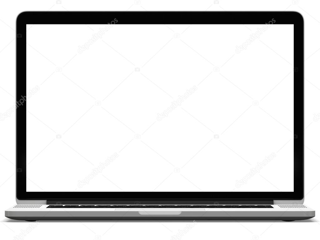 Laptop met wit scherm stockfoto 34560063 - Wit scherm ...