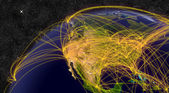 Air travel in North America