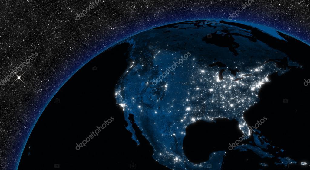 Night in North America
