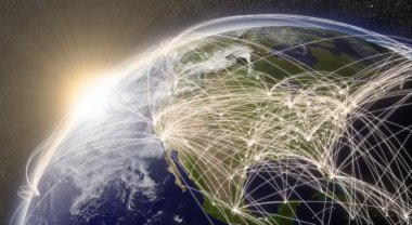 Network over North America