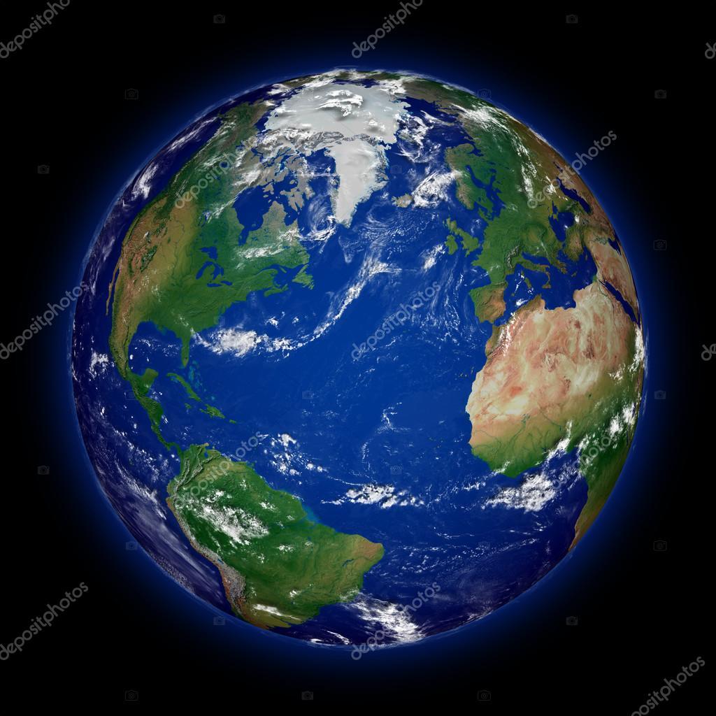 H misph re nord sur la plan te terre photo 40436329 for Plante bleue