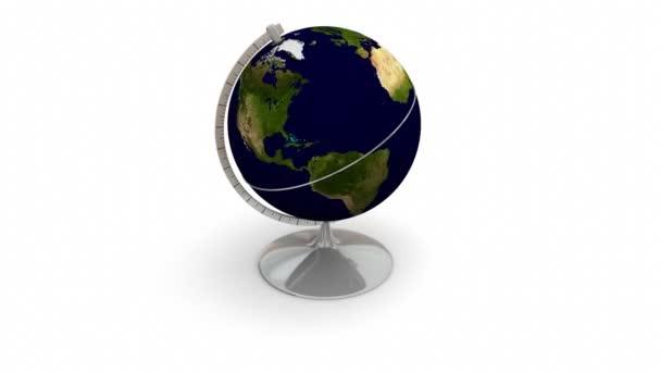 otáčející se zeměkouli