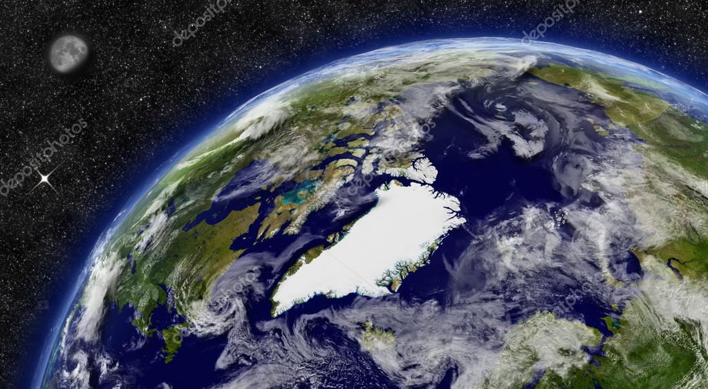 Arctic region on planet Earth