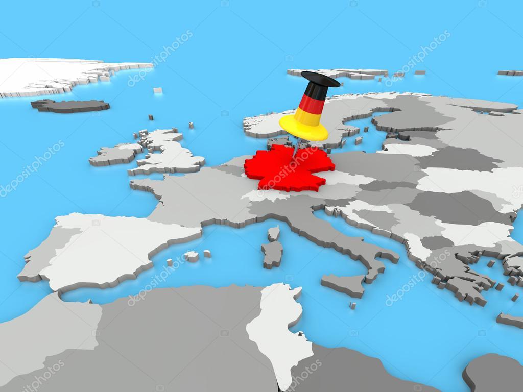 európa térkép németország Németország odatűzött hoz Európa Térkép — Stock Fotó © tom.griger  európa térkép németország