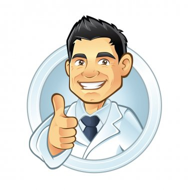 Dentists smiling thumbs-up stock vector