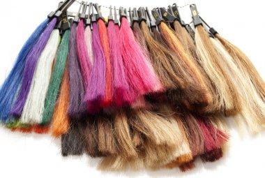 Strands of hair color